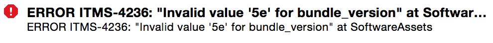 "Invalid Value ""5e"""
