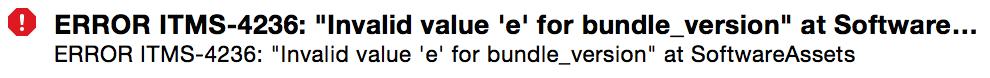 "Invalid Value ""e"""