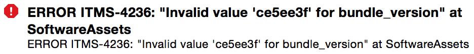 Invalid Value Git Hash