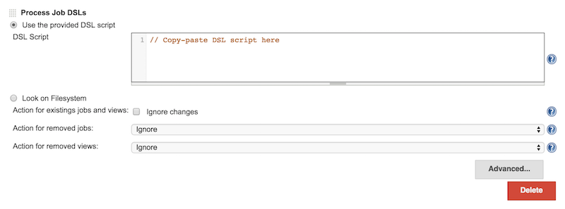 Provide DSL Script