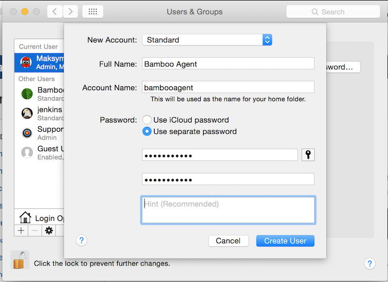 Bamboo Remote Agent on Mac OS X